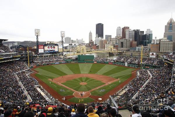 Crowd Art Print featuring the photograph Houston Astros V Pittsburgh Pirates by John Grieshop