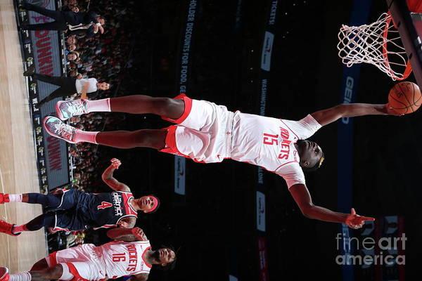 Nba Pro Basketball Art Print featuring the photograph Houston Rockets V Washington Wizards by Ned Dishman