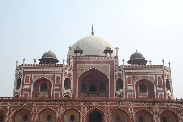 Arch Art Print featuring the photograph Humayuns Tomb, Delhi by Brajeshwar.me