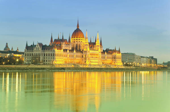 Gothic Style Art Print featuring the photograph Hungarian Parliament - Budapest by Focusstock