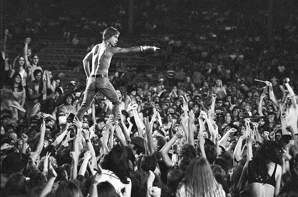 Crowd Art Print featuring the photograph Iggy Pop Live by Tom Copi