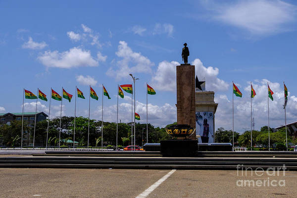 Arch Art Print featuring the photograph Independence Square Statue by Rosn123