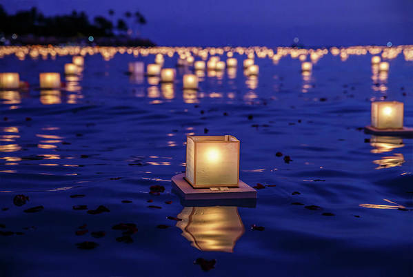 Honolulu Art Print featuring the photograph Japanese Floating Lanterns by Julie Thurston