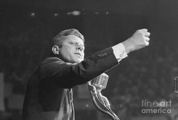 Nominee Art Print featuring the photograph John Kennedy Clenching His Fist by Bettmann