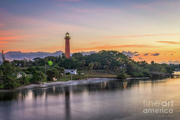 Scenics Art Print featuring the photograph Jupiter Inlet Light House by Sean Pavone
