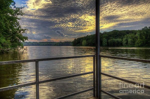 Hdr Art Print featuring the photograph Lake Girardeau Conservation Area by Larry Braun