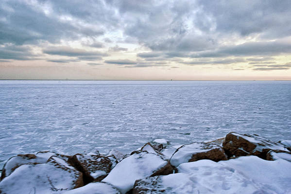 Tranquility Art Print featuring the photograph Lake Michigan by By Ken Ilio
