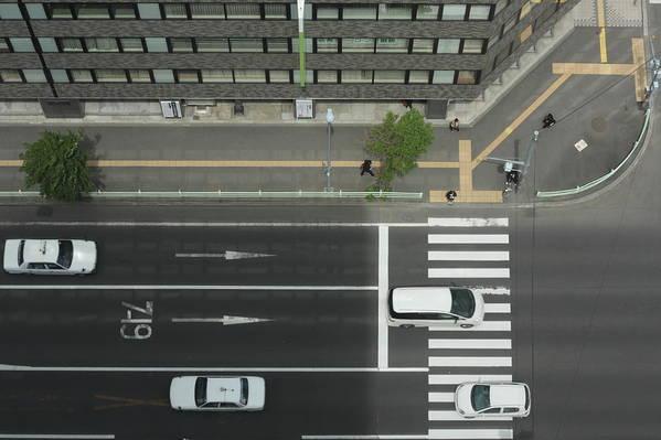 Hokkaido Art Print featuring the photograph Land Vehicles Crossing Pedestrian by Iyoupapa