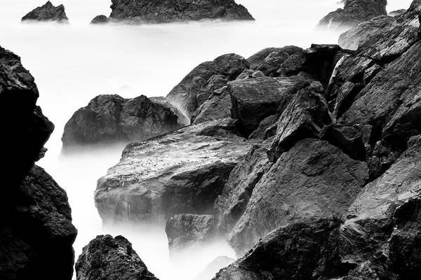 Volcanic Rock Art Print featuring the photograph Lands End Rock by Regis Vincent