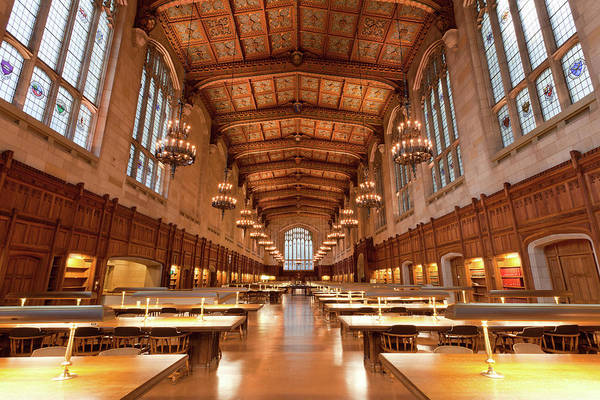 Gothic Style Art Print featuring the photograph Law School Library, University Of by Uschools