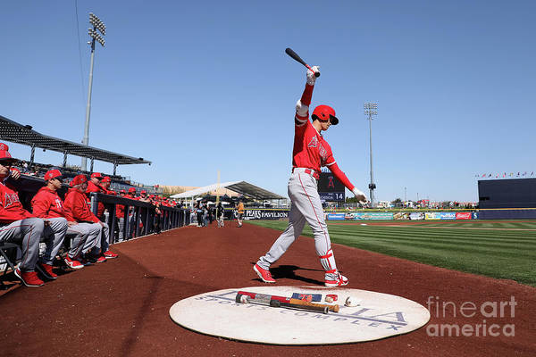 Peoria Sports Complex Art Print featuring the photograph Los Angeles Angels Of Anaheim V San by Christian Petersen