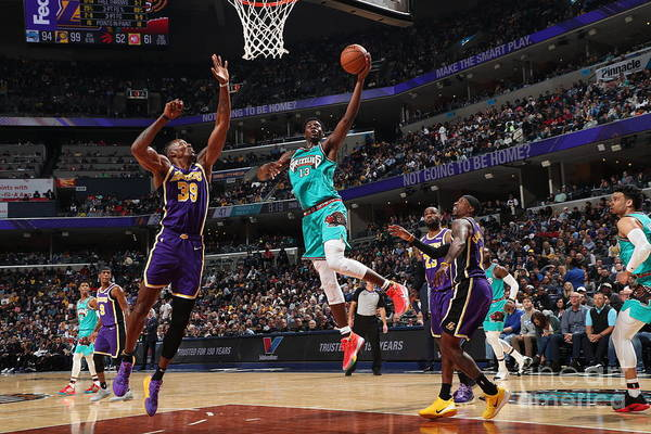 Nba Pro Basketball Art Print featuring the photograph Los Angeles Lakers V Memphis Grizzlies by Joe Murphy