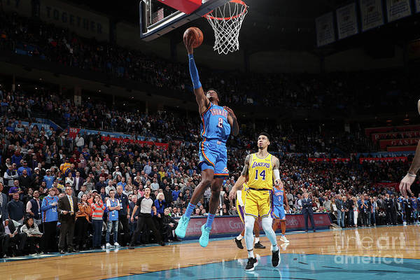 Nba Pro Basketball Art Print featuring the photograph Los Angeles Lakers V Oklahoma City by Joe Murphy