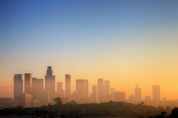 Tranquility Art Print featuring the photograph Los Angeles Sunset by Eric Lo