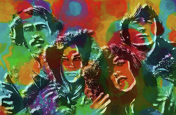 Mamas And The Papas Art Print featuring the painting Mamas And The Papas by Dan Sproul