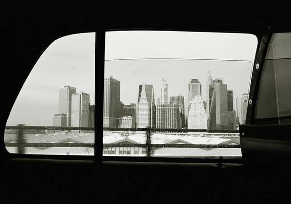 Car Interior Art Print featuring the photograph Manhattan Through Car Window by Matt Carr