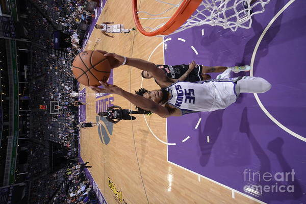 Nba Pro Basketball Art Print featuring the photograph Melbourne United V Sacramento Kings by Rocky Widner