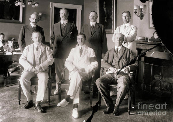 Central Bank Art Print featuring the photograph Members Of Federal Reserve Board by Bettmann