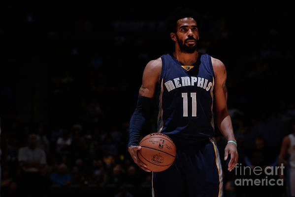 Nba Pro Basketball Art Print featuring the photograph Memphis Grizzlies V Denver Nuggets by Bart Young