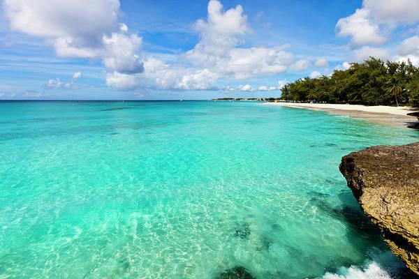 Water's Edge Art Print featuring the photograph Miami Beach, Barbados by Flavio Vallenari