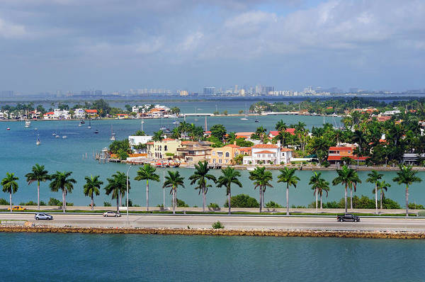 Trading Art Print featuring the photograph Miami Mac Arthur Causeway En Route To by Jfmdesign