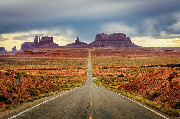 Scenics Art Print featuring the photograph Monument Valley by Posnov