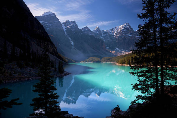Extreme Terrain Art Print featuring the photograph Moraine Lake, Banff National Park by Dan prat