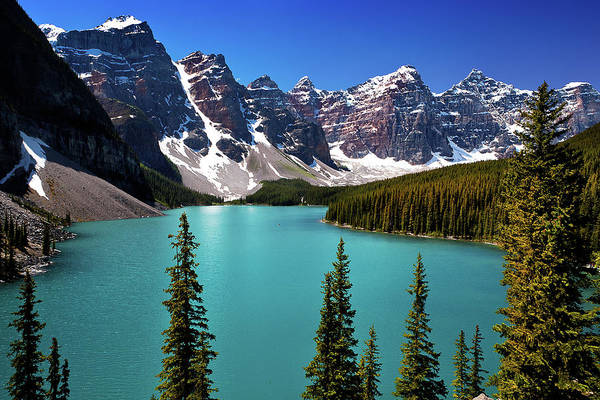 Scenics Art Print featuring the photograph Moraine Lake, Banff National Park by Edwin Chang Photography