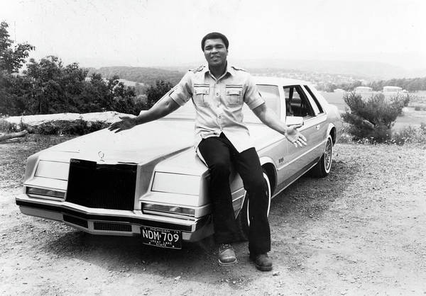 Muhammad Ali - Boxer - Born 1942 Art Print featuring the photograph Muhammad Ali Car by Afro Newspaper/gado