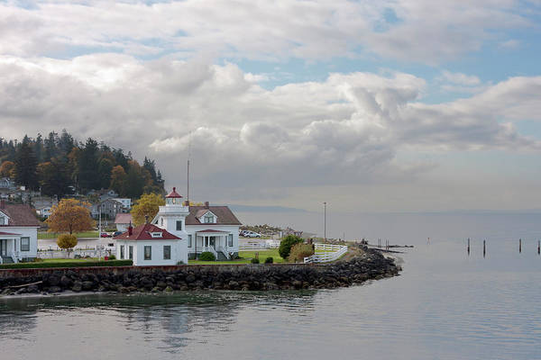 Water's Edge Art Print featuring the photograph Mukilteo Lighthouse On Puget Sound by Stevedf