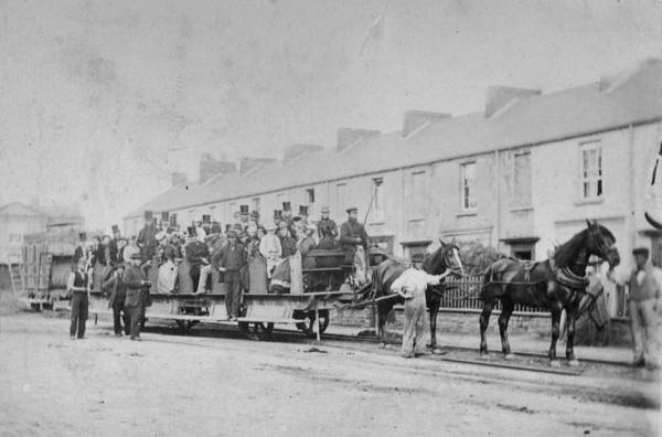 Horse Art Print featuring the photograph Mumbles Train by Hulton Archive