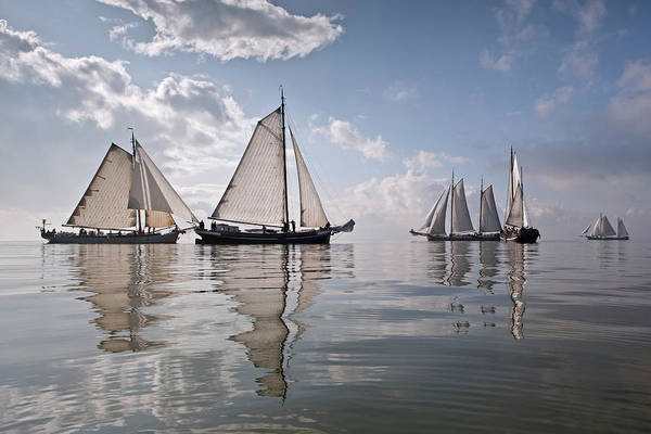 North Holland Art Print featuring the photograph Netherlands, Race Of Traditional by Frans Lemmens