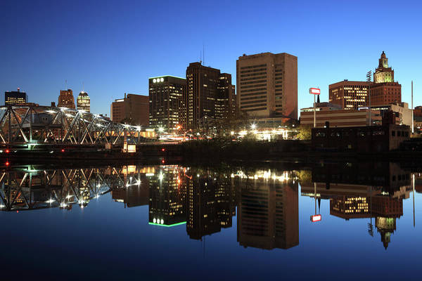 Clear Sky Art Print featuring the photograph Newark, New Jersey by Jumper