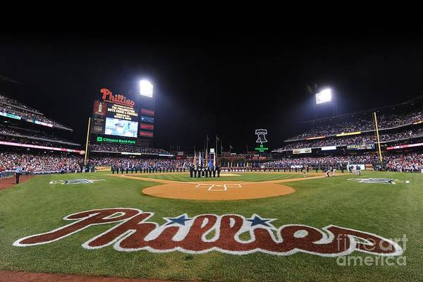 Playoffs Art Print featuring the photograph Nlcs Game 1 Los Angeles Dodgers V by Philadelphia Phillies