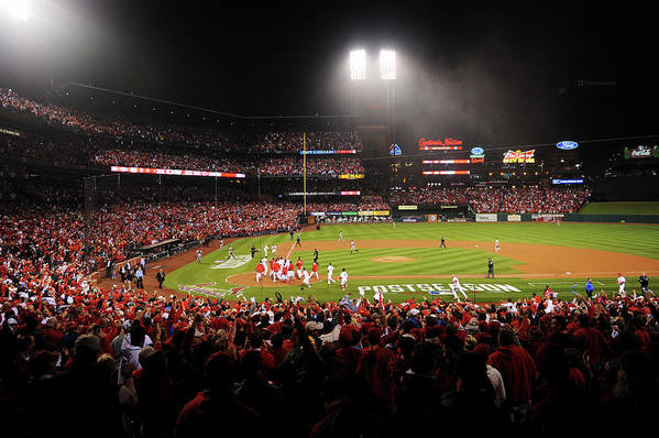 St. Louis Cardinals Art Print featuring the photograph Nlcs - San Francisco Giants V St Louis by Michael Thomas