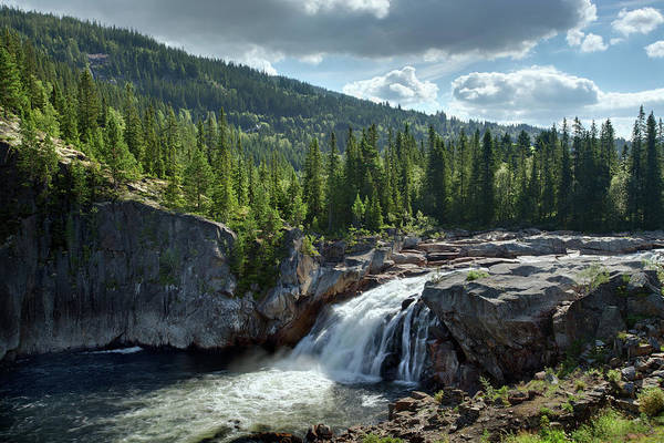 Scenics Art Print featuring the photograph Norway Waterfall by Ralph Oechsle