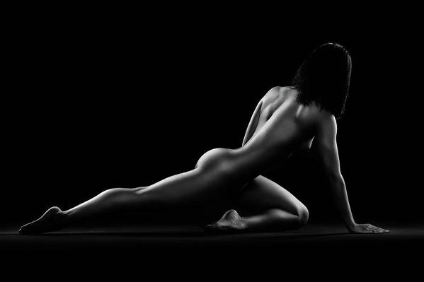 Woman Art Print featuring the photograph Nude woman bodyscape 5 by Johan Swanepoel