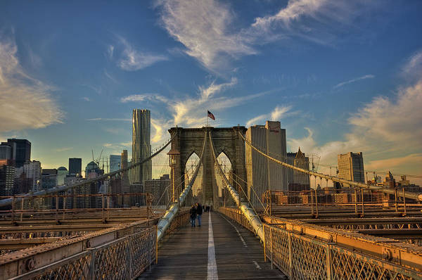 Built Structure Art Print featuring the photograph On The Way To Manhattan by Alexander Matt Photography