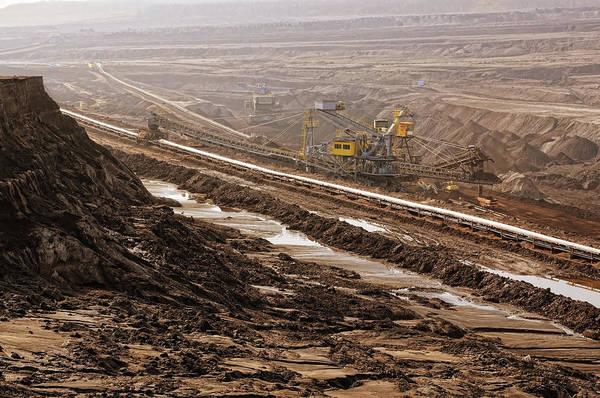 Air Pollution Art Print featuring the photograph Open Strip Coal Mine by Hsvrs