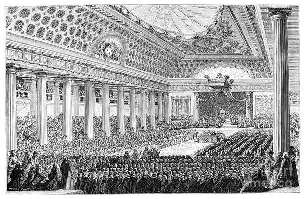 Engraving Art Print featuring the drawing Opening Of The Estates General by Print Collector