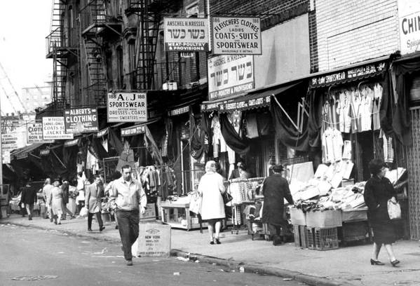 Usa Art Print featuring the photograph Orchard Street Market On The Lower East by New York Daily News Archive