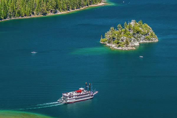 Scenics Art Print featuring the photograph Paddle Wheeler, Lake Tahoe, Us by Stuart Dee