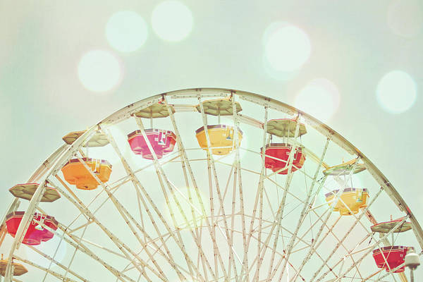 Hanging Art Print featuring the photograph Pastel Ferris Wheel by Joyhey