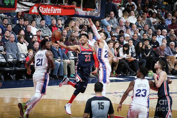 Nba Pro Basketball Art Print featuring the photograph Philadelphia 76ers V Washington Wizards by Stephen Gosling