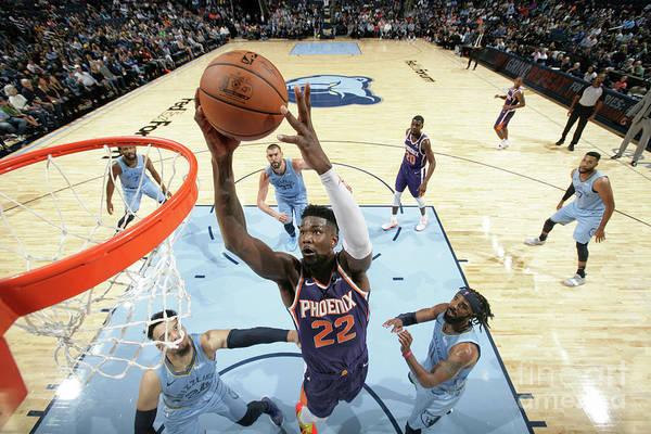 Nba Pro Basketball Art Print featuring the photograph Phoenix Suns V Memphis Grizzlies by Ned Dishman