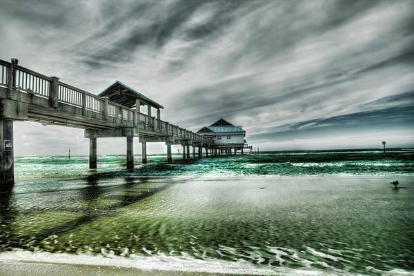 Water's Edge Art Print featuring the photograph Pier by Chumbley Photography