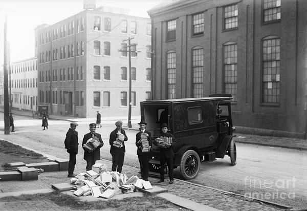 Ambulance Art Print featuring the photograph Police Load Van With Communist by Bettmann