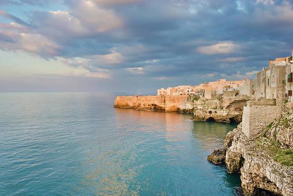 Adriatic Sea Art Print featuring the photograph Polignano A Mare On The Adriatic Sea by David Madison