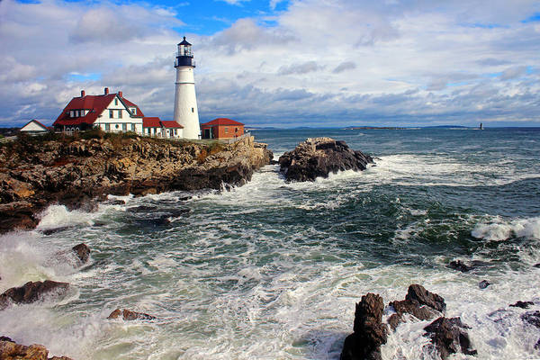 Tranquility Art Print featuring the photograph Portland Head Lighthouse by Jeremy D'entremont, Www.lighthouse.cc