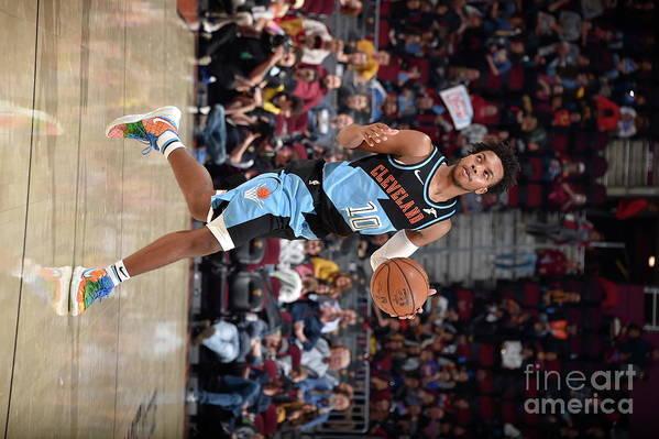 Nba Pro Basketball Art Print featuring the photograph Portland Trailblazers V Cleveland by David Liam Kyle